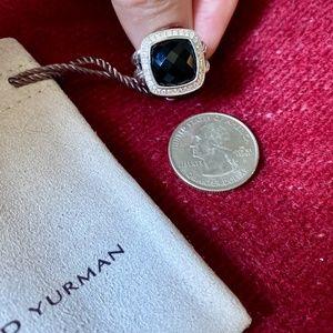 AUTHENTIC DAVID YURMAN ALBION ONYX DIAMOND RING DY